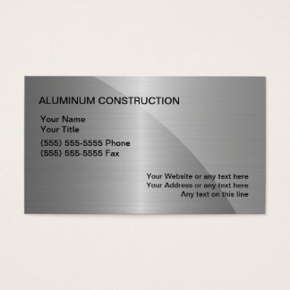 Aluminum konstruktionsvisitkortar visitkort