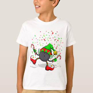 Älva för dansbowlingjul tee shirts