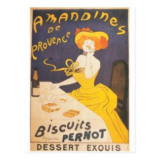Amandines de Provence Fransk vintageillustration Vykort
