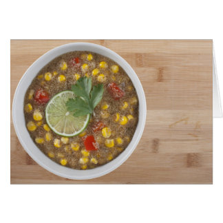 AmaranthmajChowder med limefrukt Hälsningskort