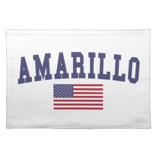 Amarillo US flagga Bordstablett