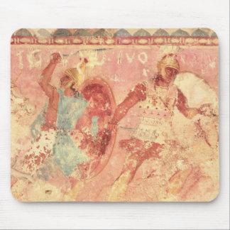 Amasoner som slåss en grekisk krigare musmatta