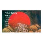 AMATERASU SOLGUDINNA, röd svartbrunt Set Av Standard Visitkort