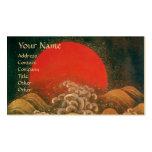 AMATERASU SOLGUDINNA, rött svartbruntguld Set Av Standard Visitkort
