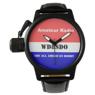 Amatören radiosände all amerikanhobbyen armbandsur