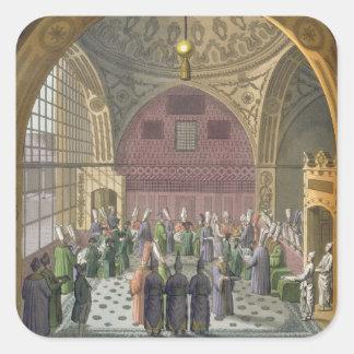 Ambassadörer i åhörarna Hall av den storslagna Fyrkantigt Klistermärke
