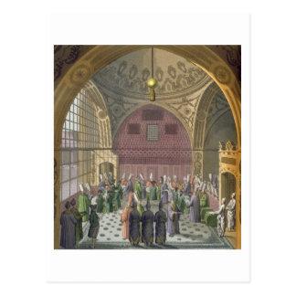 Ambassadörer i åhörarna Hall av den storslagna Vykort