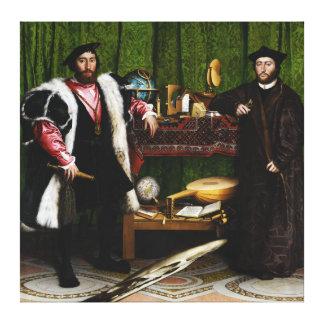 Ambassadörerna av Hans Holbein det mer ung Canvastryck