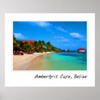 Ambergris Caye Belize reser destinationen Poster