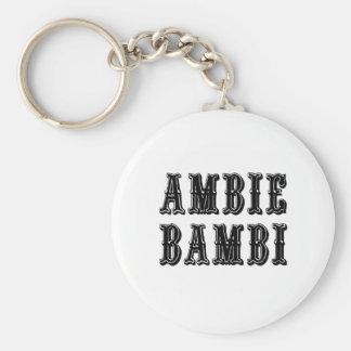 Ambie Bambi Rund Nyckelring