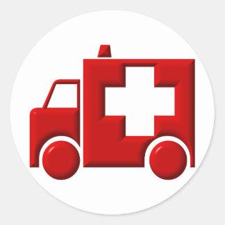 Ambulans/EMT Runt Klistermärke