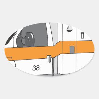 Ambulans Ovalt Klistermärke