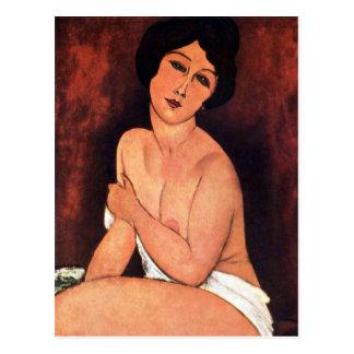 Amedeo Modigliani stor placerad kvinna Vykort