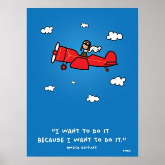 Amelia Earhart affisch