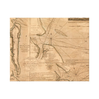 Amelia Island Florida 1770 karta Canvastryck