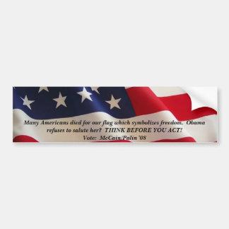 american-flag-2a många amerikaner dog för vårt f… bildekal