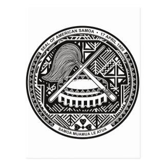 American Samoa lag av armen SOM Vykort