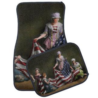 Americana - flagga - födelse av amerikanska bilmatta