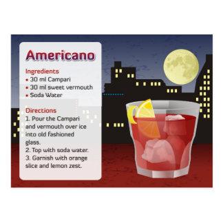 Americano receptkort vykort