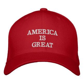 Amerika är underbar broderad keps