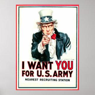 Amerika behov - affisch