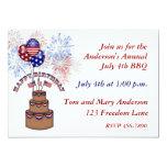 Amerika födelsedagJuli 4th inbjudan 12,7 X 17,8 Cm Inbjudningskort