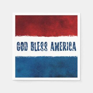 Amerika för patriotisk välsigna dig pappra pappersservetter