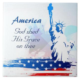 Amerika-Gud skjul som hans nåd på keramiska Thee Kakelplatta