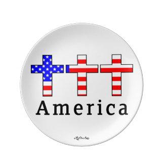 Amerika kristendomen! 8,5 PLÄTERA Porslinstallrik