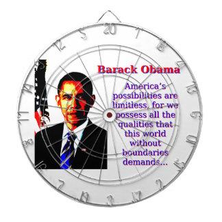Amerika möjligheter är obegränsade - Barack Oba Piltavla