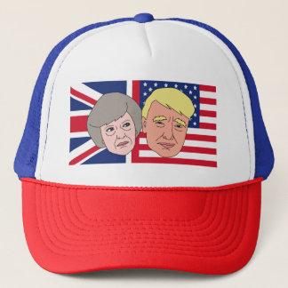 Amerika och Britannien lastbilsförarelock Keps