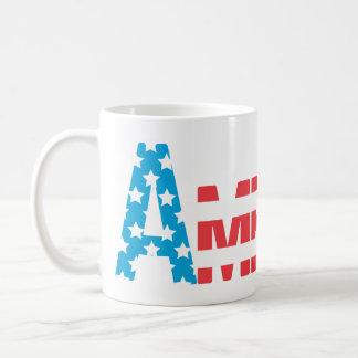 Amerika patriotisk mugg