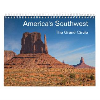 Amerika Southwest - tusen dollar cirklar kalendern Kalender