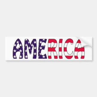 Amerika stars och stripes bildekal