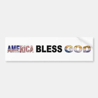 Amerika välsignar guden bildekal