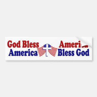 Amerika välsignar välsigna dig Amerika för gud   Bildekal