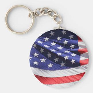 Amerikan-flagga-Mall Rund Nyckelring
