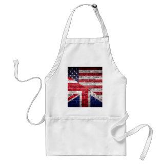 Amerikan- och brittflagga förkläde