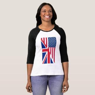 Amerikan och facklig T-tröja för Raglan för T Shirts