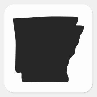 Amerikan som är statlig av Arkansas Fyrkantigt Klistermärke