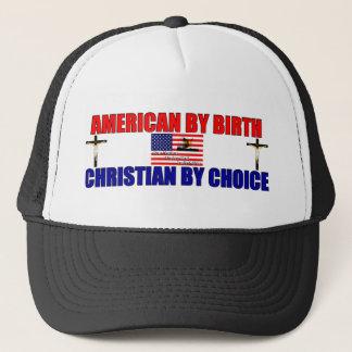 Amerikan vid födelse: Kristen vid primat Truckerkeps