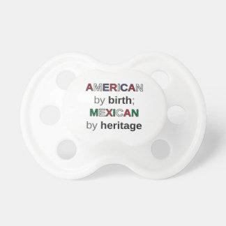 AMERIKAN vid födelse; MEXIKAN vid arvet Napp