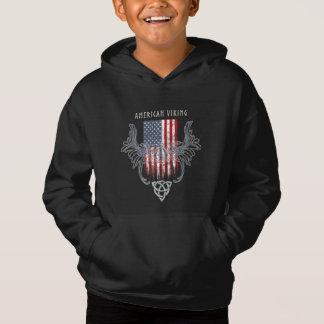 Amerikan Viking. Flagga bekymrad Celtic hjälm Tee Shirt