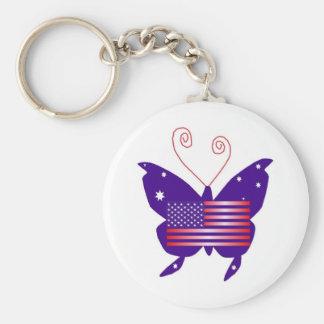 AmerikanDivafjäril Nyckel Ring