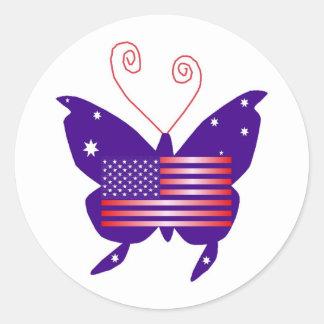 AmerikanDivafjäril Runt Klistermärke