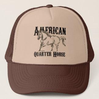Amerikanen inkvarterar hästen truckerkeps