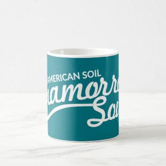 Amerikanen smutsar, muggen för Chamorro Soulkaffe Kaffemugg
