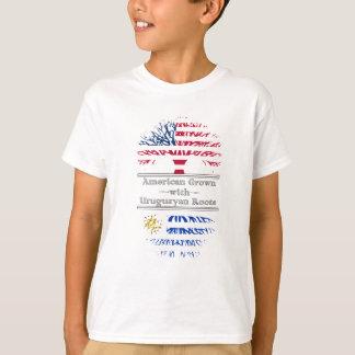 Amerikanen som är fullvuxen med uruguayanskt, tröja