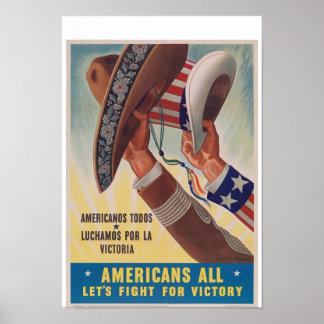 Amerikaner allt vintagekrig poster