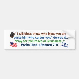 Amerikaner - välsigna guden och Israel Bildekal